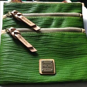 Dooney & Bourke Triple Zip Green Crossbody Bag